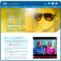 Lee County Optical Website Design